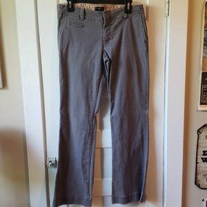 American Eagle Gray Distressed Khakis Size 10